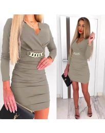 Šaty - kód 8999 - šedá