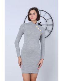 Šaty - kód 7099 - 5 - šedá