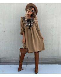 Šaty - kód 958 - hněda
