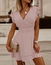 Šaty - kód 5654 - světle růžová