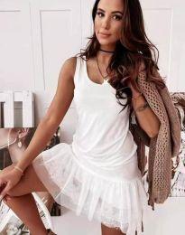 Šaty - kód 2994 - bílá