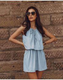 Šaty - kód 8399 - světle modrá