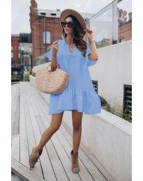 Šaty - kód 6868 - modrý