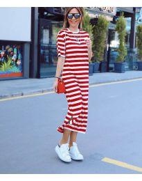 Šaty - kód 9910 - červená