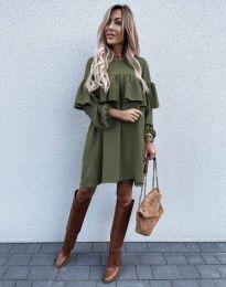 Šaty - kód 6913 - olivová  zelená