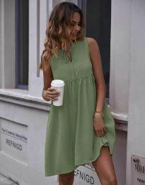 Šaty - kód 0286 - olivově zelená