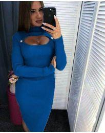 Šaty - kód 2144 - 1 - modrá