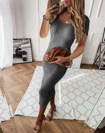 Šaty - kód 0714 - 1 - šedá