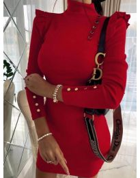 Šaty - kód 8484 - červená