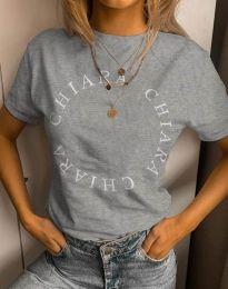 Дамска тениска в сиво - код 4496