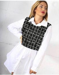 Košile - kód 9990 - 3 - bílá