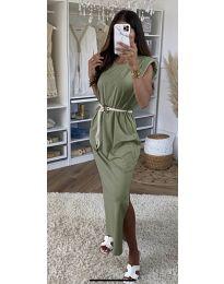 Šaty - kód 7049 - olivová  zelená