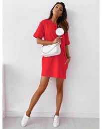 Šaty - kód 7236 - červená