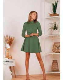 Šaty - kód 6619 - olivová  zelená