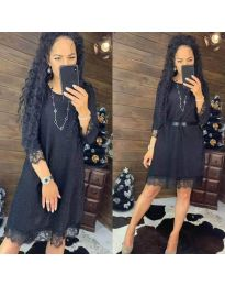 Šaty - kód 1426 - černá