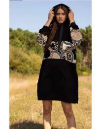 Šaty - kód 4546 - 4 - černá