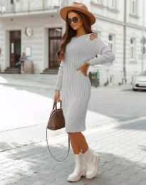 Šaty - kód 8203 - šedá