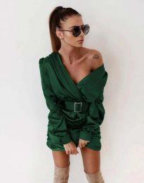 Šaty - kód 0659 - tmavozelenou