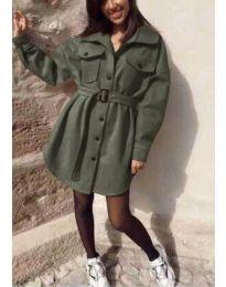 Šaty - kód 0707 - olivová  zelená