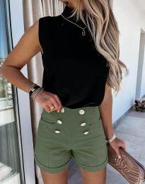 Krátké kalhoty - kód 6815 - olivová  zelená