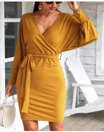 Šaty - kód 1197 - hořčičná