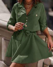 Šaty - kód 4950 - olivově zelená