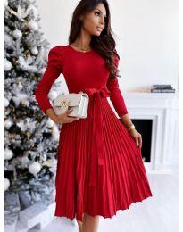 Šaty - kód 3939 - červená