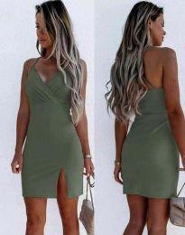 Šaty - kód 8979 - olivově zelená