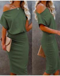 Šaty - kód 1737 - olivově zelená