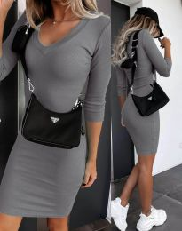 Šaty - kód 7592 - šedá
