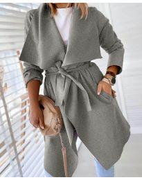 Kabát - kód 8778 - šedá