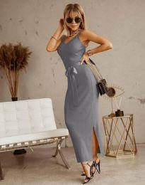 Šaty - kód 6166 - šedá