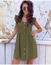 Šaty - kód 3033 - olivová  zelená