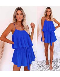 Volné šaty modré barvy - kód 721