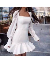Šaty - kód 3605 - bílá