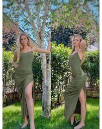 Šaty - kód 7858 - olivově zelená