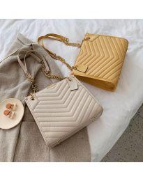 Дамска чанта в жълто с метални крачета - код В19