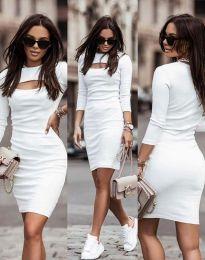 Šaty - kód 7376 - 1 - bíla