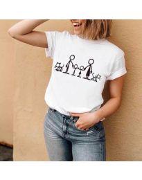 Tričko - kód 384 - bíla