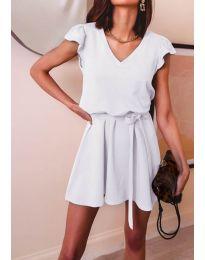 Šaty - kód 5551 - bílá