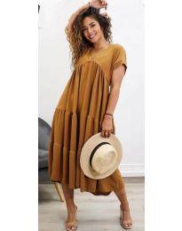 Šaty - kód 4475 - hněda