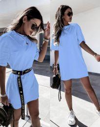 Šaty - kód 8809 - světle modrá