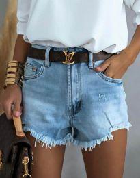Krátké kalhoty - kód 4309 - 1 - světle modrá