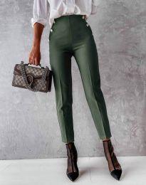 Kalhoty - kód 4895 - olivová  zelená