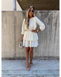 Šaty - kód 7723 - bílá