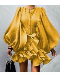 Šaty - kód 2819 - žlutá