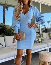 Šaty - kód 2917 - světle modrá