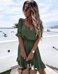 Šaty - kód 6460 - olivově zelená