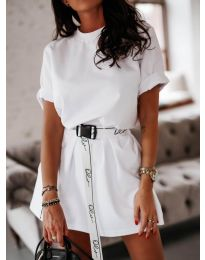 Šaty - kód 809 - bílá