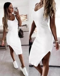 Šaty - kód 2378 - bílá